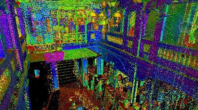 3D laser scan Sen Tay Ho restaurant